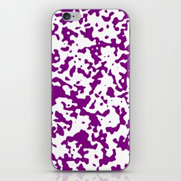 Spots - White and Purple Violet iPhone Skin