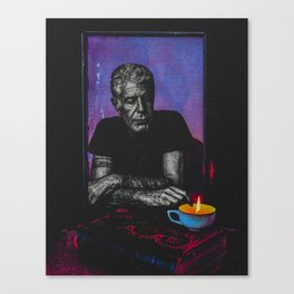 Anthony Bourdain Tribute Canvas Print