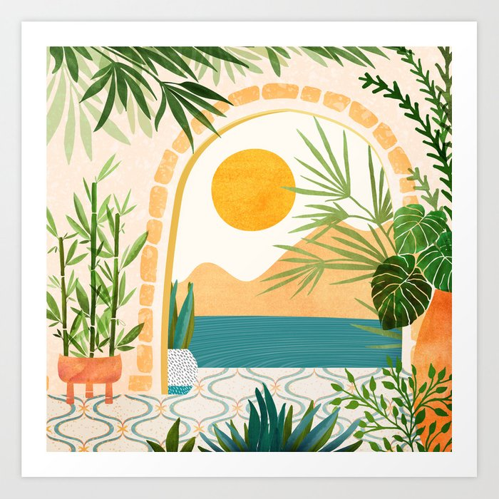 Villa View Tropical Landscape / Villa Series Art Print