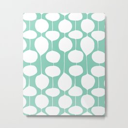 Holiday Bobbles - Festive Teal Metal Print