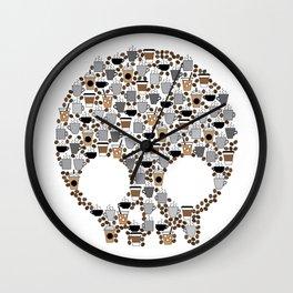 Coffee Skull Wall Clock