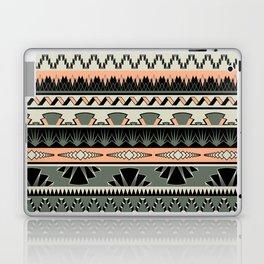art deco stripes - salmon Laptop & iPad Skin