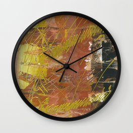 Shades of Gold by Australian Artist Vidy Potdar Wall Clock