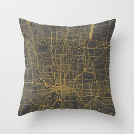 Columbus map Throw Pillow