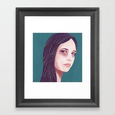 Eva Green Framed Art Print