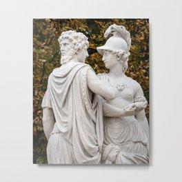 Sculpture, Imperial Gardens, Schonbrunn Palace, Vienna Metal Print