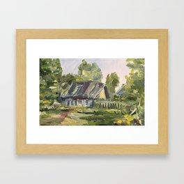 Oil Painting On Canvas Village Landscape Artwork Modern Room Wall Art Home Living Cozy Home Decor Framed Art Print