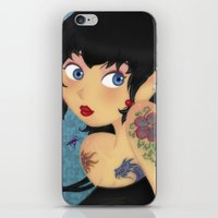 rockabilly iPhone & iPod Skins featuring Rockabilly by Katherine Galo