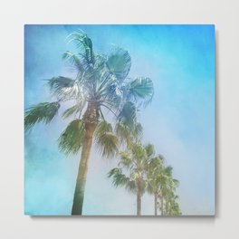 """Palms. Beach"" Metal Print"