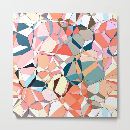 Jumble of Shapes And Colors Metal Print