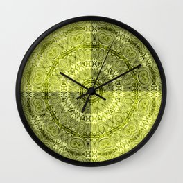 Olive mandala Wall Clock