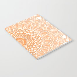 Orange Tangerine Mandala Detailed Textured Minimal Minimalistic Notebook
