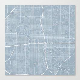 Wichita Map, USA - Slate Canvas Print