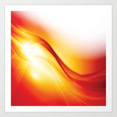 Contemporary Sunlight Streamer Art Print