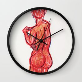 Red Woman Wall Clock