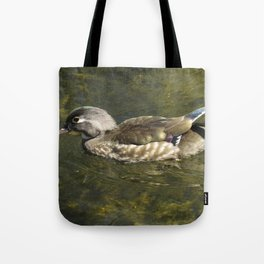 Female Wood Duck at Green Valley Inn Tote Bag