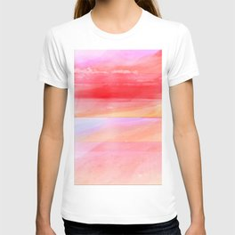 Seascape in Red, Yellow and Pink T-shirt