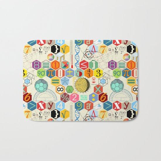 Math in color (little) Bath Mat