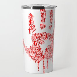 Undead Blood Hand Print Artwork Travel Mug