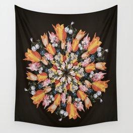 Flemish Floral Mandala 2 Wall Tapestry