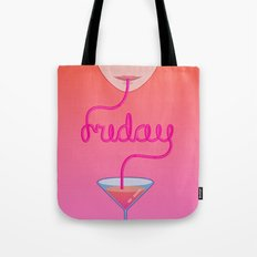 friday cocktail lettering Tote Bag