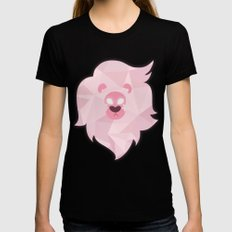 Lion - Steven Universe MEDIUM Black Womens Fitted Tee