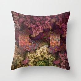 Unending magical spirals and spheres Throw Pillow