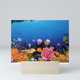 Beautiful Coral Reef Animals Mini Art Print