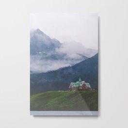 Waterton Fog Metal Print