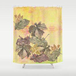 ...among the leaves,  the dew  of old devotions. ' Shower Curtain