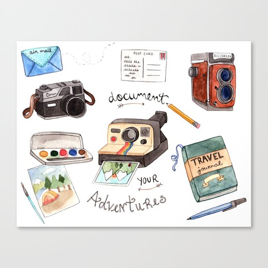 Document Your Adventures Canvas Print