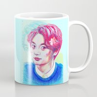 shinee Mugs featuring SHINee Minho by sophillustration