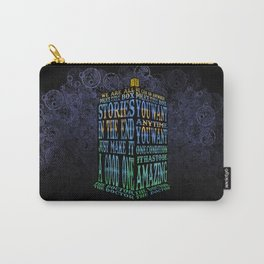 Tardis Doctor who Typography iPhone, ipod, ipad, pillow case and tshirt Carry-All Pouch