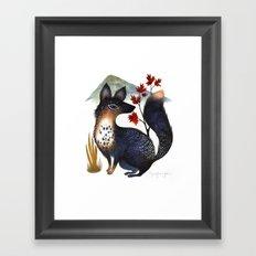 Speckled Fox Framed Art Print