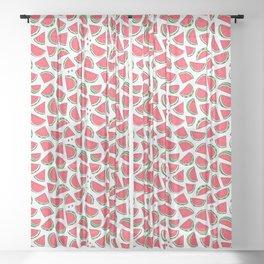Watermelon World! Kawaii Watermelon Doodle Sheer Curtain