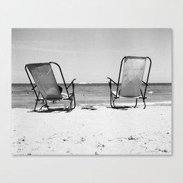 Beach Life - Gone Swimming Canvas Print