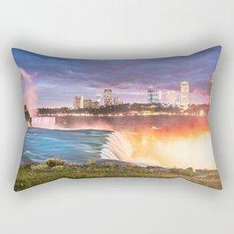 Niagara Falls: The Flow Aglow Rectangular Pillow