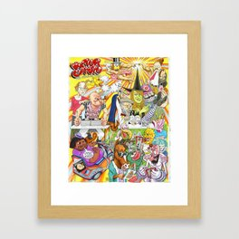 VICTOR CAYRO: The Assailer Man and friends Framed Art Print