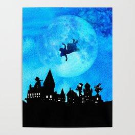 Alice Magical Watercolor Night - Alice in Wonderland Poster