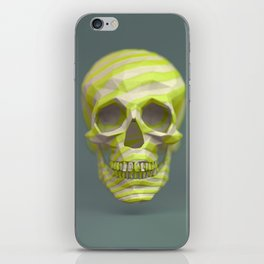 Yellow pop candy skull 3D render. iPhone Skin