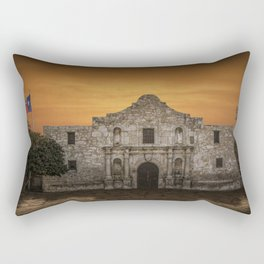The Alamo Mission in San Antonio Texas with the Lonestar Flag Flying No.0256 A Fine Art Historical P Rectangular Pillow
