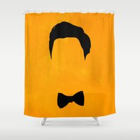 glee Shower Curtains featuring Darren Criss Hair & Bowtie by byebyesally