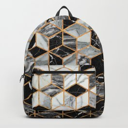 Marble Cubes - Black and White Backpack
