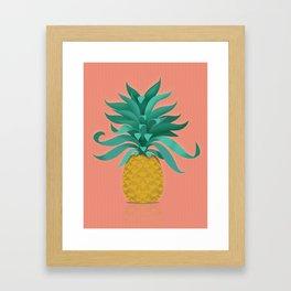 pineapple at the salon Framed Art Print