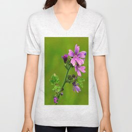 Common Mallow (Cheeseweed) Unisex V-Neck