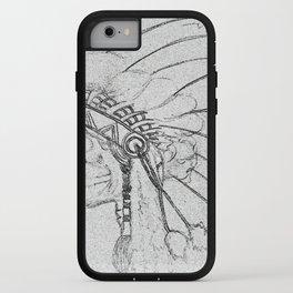 indian skull sketch iPhone Case