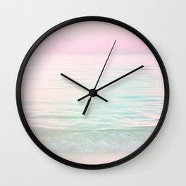Dreamy Pastel Seascape #buyart #pastelvibes #Society6 Wall Clock