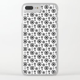 Black Snow Clear iPhone Case