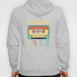 Classic 1958 Mixtape Cassette Birthday Hoody