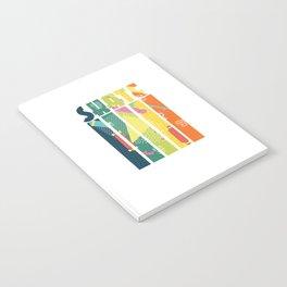 Skateboarder Retro Skater Vintage Geometric Pattern Notebook